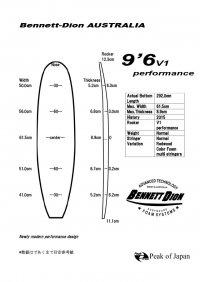PUロングブランクス 9'6V1 performance