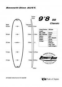 """PUロングブランクス 9'8""""BB classic"""